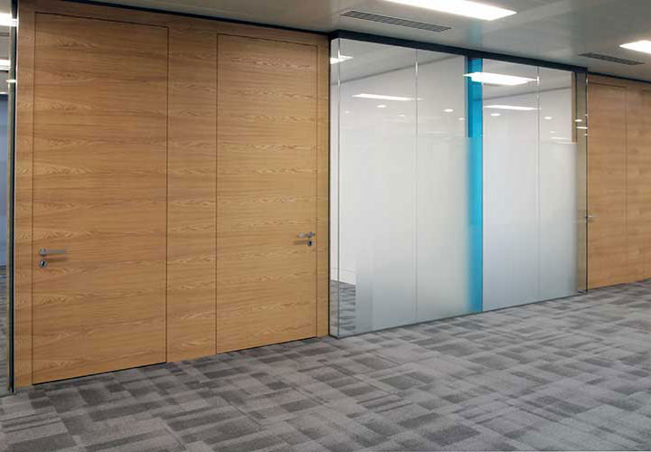office corridor door glass. Vertically On The Outside Corner Junction Of Office Glazing. This Provided Both Protection Against Impact To Otherwise Exposed Glazed Junction, Corridor Door Glass